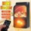 Портативный обогреватель с имитацией камина Flame Heater 6730 900W с пультом 23