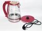 Електрочайник скляний Domotec MS-8113 2200W 2 л Red 4