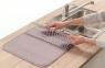 Сушилка для посуды с ковриком Metaltex Dry-Tex Polytherm 320580 45х40х7 см. 2