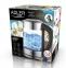 Електрочайник скляний з терморегулятором Adler AD 1247 2200W 1.7 л Silver 6