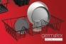 Сушарка для посуду з пластиковим покриттям Metaltex Germatex 320145 022 48x30х12 см. 1