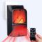Портативный обогреватель с имитацией камина Flame Heater 6730 900W с пультом 20