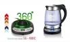 Електрочайник скляний з терморегулятором Camry CR 1242 2200W 1.7 л Silver 7