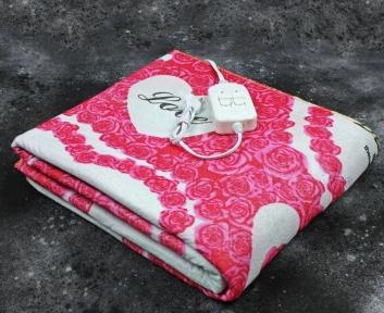 Электропростынь двухспальная Lux Electric Blanket Love 155x140 см