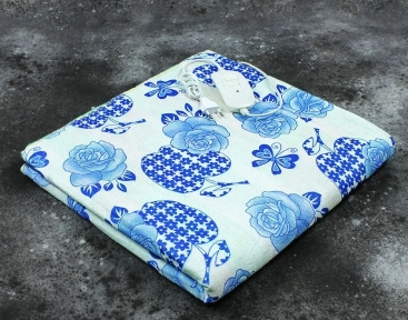 Электропростынь односпальная Lux Electric Blanket Blue Flowers 155x75 см