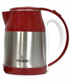 Электрочайник Crownberg CB-2840 1850W 2 л Red/Silver