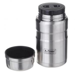 Харчовий термос в чохлі з ложкою A-Plus FJ-1772 1 л Steel