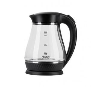 Електрочайник скляний Adler AD 1274 2200W 1.7 л Black