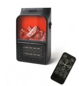 Портативный обогреватель с имитацией камина Flame Heater 6730 900W с пультом