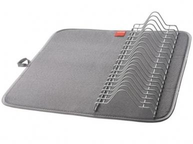 Сушилка для посуды с ковриком Metaltex Dry-Tex Polytherm 320580 45х40х7 см.