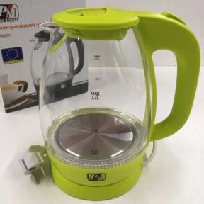 Електрочайник скляний Promotec PM-824 2250W 1.7 л Green