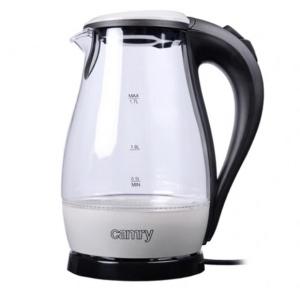 Електрочайник скляний Camry CR-1251 2000W 1.7 л Silver