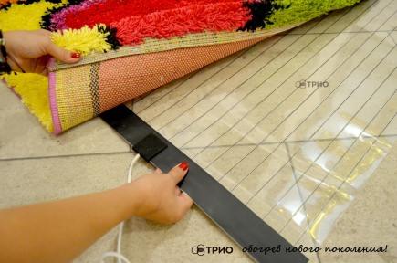 Мобільна тепла підлога Trio 180x60 см.
