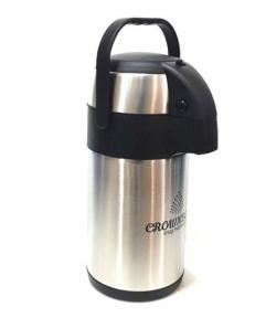 Термос вакуумный с помпой Crownberg CB-3L 3 л Steel