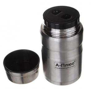 Харчовий термос в чохлі A-Plus 1768 750 мл Steel