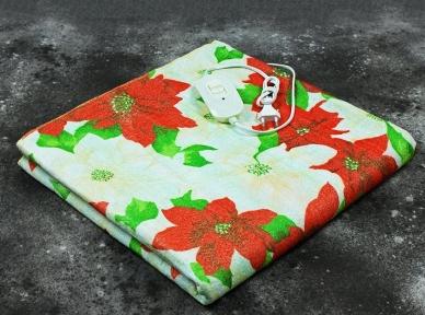 Электропростынь односпальная Lux Electric Blanket Red Flowers 155x75 см