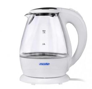 Електрочайник скляний Mesko MS 1245 2200W 1.5 л White