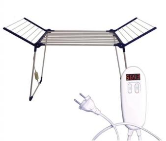Электрическая сушилка для белья напольная раскладная Shine ЕБК-8/220 с электронным терморегулятором и таймером