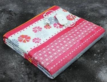 Электропростынь полуторная Lux Electric Blanket Pink/Gray Flowers 155x120 см