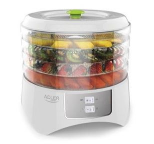 Сушилка для овощей и фруктов Adler AD-6654 400W White