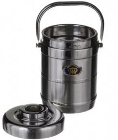 Харчовий термос з 2 контейнерами A-Plus 2064 1.8 л Steel