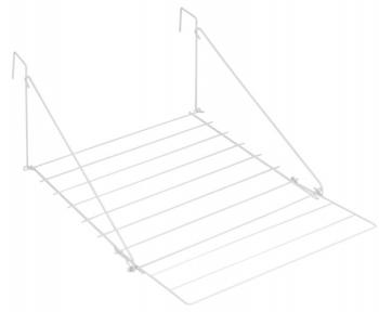 Сушилка для белья навесная с пластиковым покрытием Metaltex Breda 406800 52x28х50-69 см.