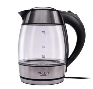 Электрочайник стеклянный Adler AD 1246 2200W 1.8 л Silver