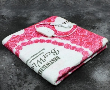 Електропростирадло полуторне Lux Electric Blanket Love155x120 см