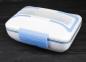 Ланч Бокс з підігрівом від мережі 220В Electric Lunch Box з металевою знімною чашею Blue