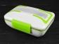 Ланч Бокс з підігрівом від мережі 220В Electric Lunch Box з металевою знімною чашею Green
