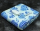 Електропростирадло двоспальне Lux Electric Blanket Blue Flowers 155x140 см